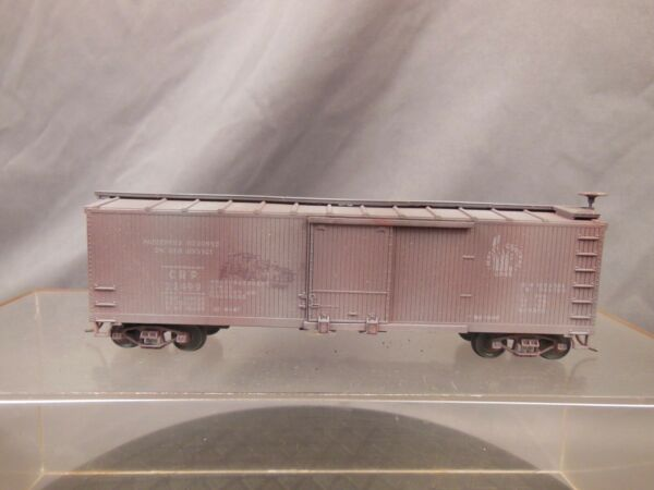 HO SCALE CUSTOM WEATHERED CRP 22499 JERSEY CENTRAL WOOD SHEATHED BOX CAR $39.99