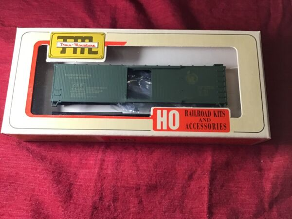 TRAIN MINIATURE HO SCALE 40' JERSEY CENTRAL WOOD BOXCAR BRAND NEW $20.99