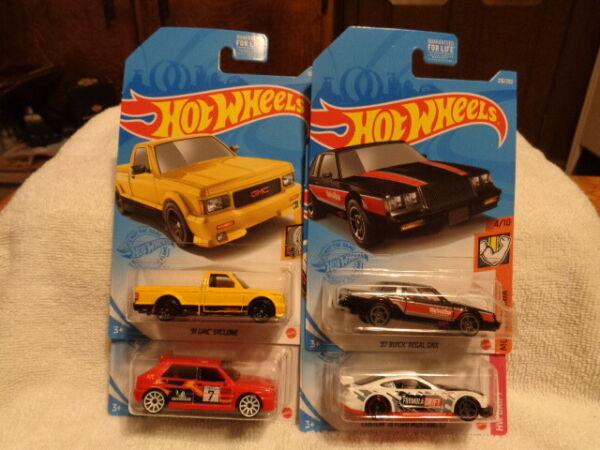 HOT WHEELS LOT OF 4 KROGER EXCLUSIVE CARS REGAL MUSTANG LANCIA SYCLONE READ $9.95