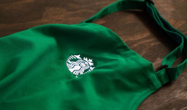NEW Starbucks Coffee Green Barista Apron with Embroidered Logo