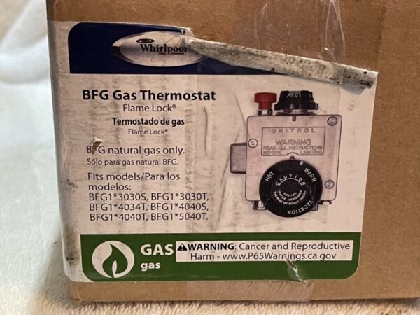 Whirlpool 6910798 Water Heater BFG Gas Thermostat 295098 $40.00