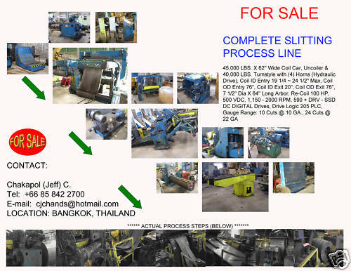 Coil Slitter Steel metal Slitting slit machine Line - 45000 Lb x 62