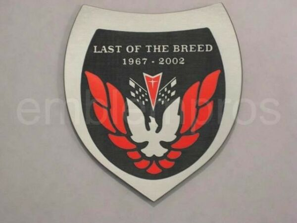 GM LICENSED, LAST OF THE BREED LOTB EMBLEM BADGE, COMPOSITE CHOOSE COLOR