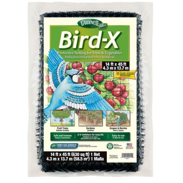 Dalen Bird-X Netting 14' x 45' for Fruit Trees Vegetables Gardens and Vineyards