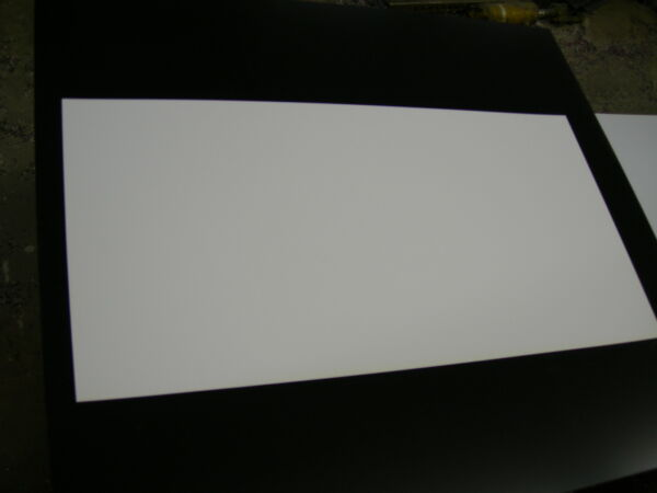 WHITE STYRENE POLYSTYRENE PLASTIC SHEET .020quot; THICK 12quot; X 48quot; $8.68