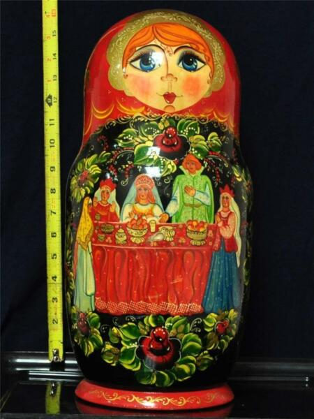 RUSSIAN NESTING DOLLS 25PCS SET 16.5
