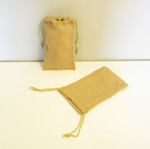 1 BURLAP SACK 6quot; BY 10quot; WEDDING FAVOR BAGS WITH DRAWSTRINGS JEWELRY COIN GIFT