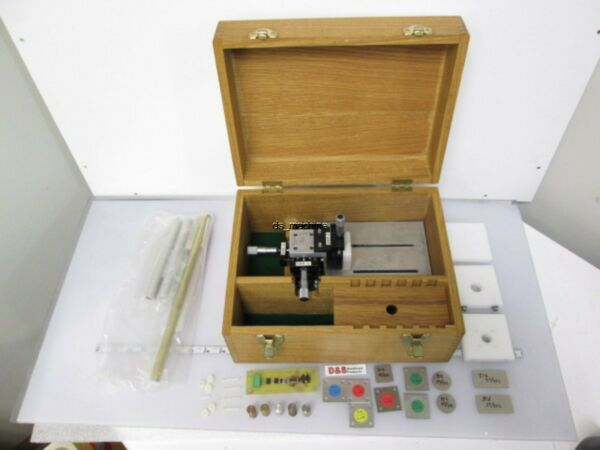High Precision Proximity Switch Testing Rig with Various Metal Samples and Case