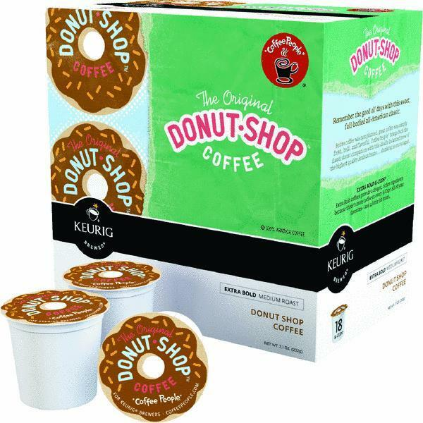 100 Boxes Keurig K Cup Original Donut Shop Coffee Pod Brew 18 CupsBx 00732