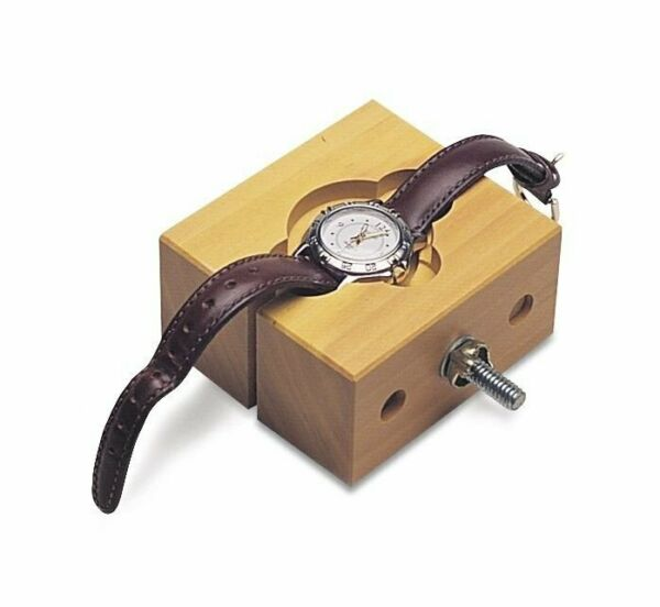 Watchmakers Solid Wood Large Watch Case Holder Vise for Watch Repair
