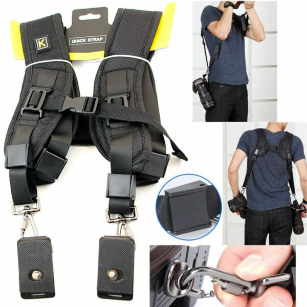 Quick Rapid Dual Camera Neck Sling Belt Shoulder Strap for Canon 1300D 1200D 80D