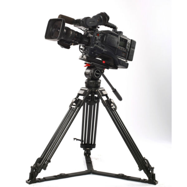V12L 66quot; Aluminum Video Professional Tripod Fluid Head 12KG for Red Scarlet ARRI
