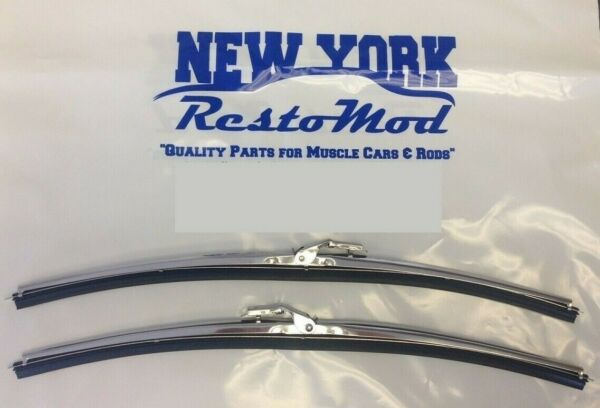 Stainless Steel Wiper Arm Blades with DIMPLES Correct Reproduction A MUST PAIR