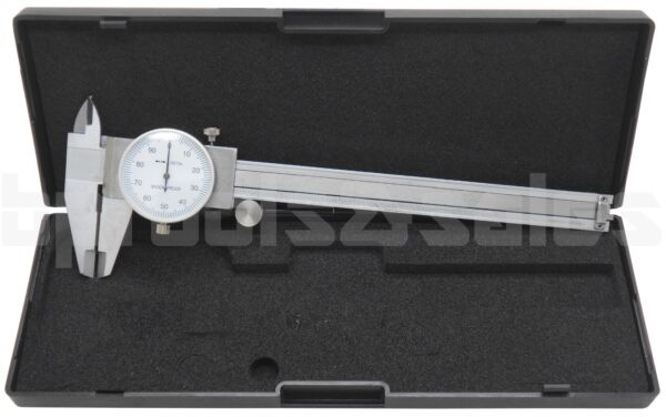 6quot; DIAL CALIPER STAINLESS STEEL SHOCKPROOF .001quot; OF ONE INCH.