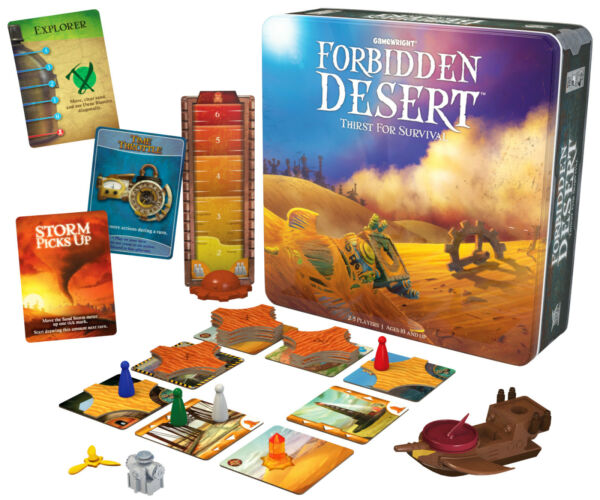 Forbidden Desert Family Card Board Game Thirst For Survival From Gamewright