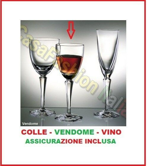 20115 COLLE VENDOME CONF. CALICE VINO 6-PZ 84011 CRISTALLO CASAFASHIONITALIA