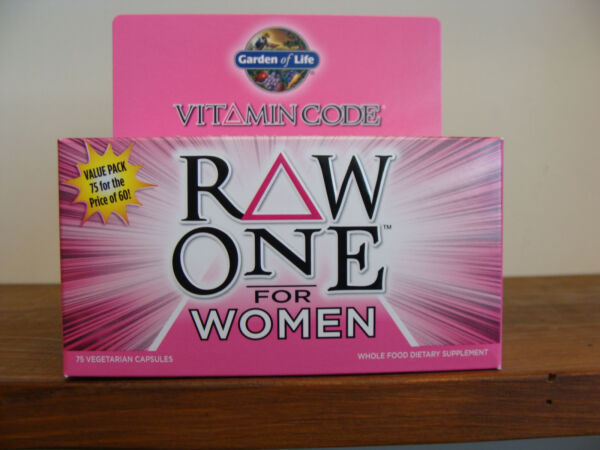 Vitamin Code Raw One for WOMEN 75 Capsules - Whole Food Multi - Garden Of Life