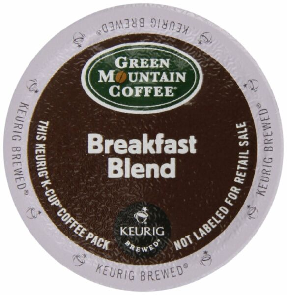 Keurig K-Cup 72 Pack Kosher Green Mountain Coffee Arabica Breakfast Blend