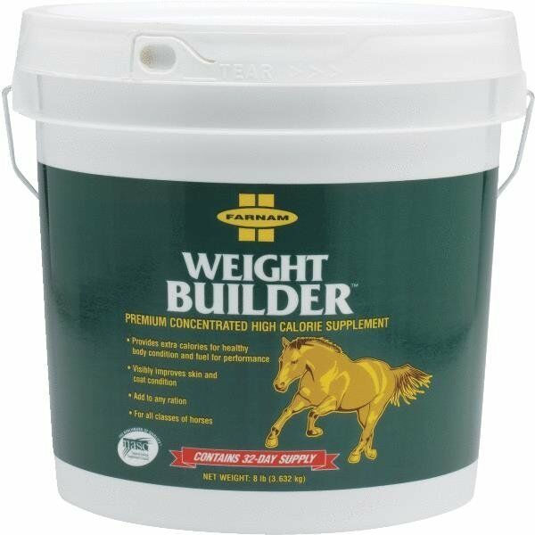 Farnam Weight Builder 8# Pail High Calorie Horse Feed Supplement 13701