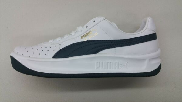 PUMA GV SPECIAL WHITE NAVY BLUE LEATHER RETRO CLASSIC MENS SNEAKERS 343569-03