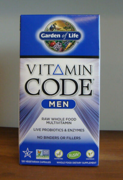 Vitamin Code Men 120 Capsules Garden of Life Raw Wholefood Multivitamin