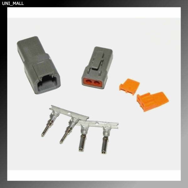 Deutsch DTP 2-Pin Genuine Connector Kit 12-14AWG Stamped Contacts, USA