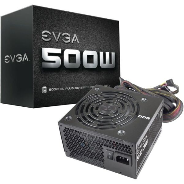 EVGA 500W 80Plus Power Supply Unit (100-W1-0500-KR)