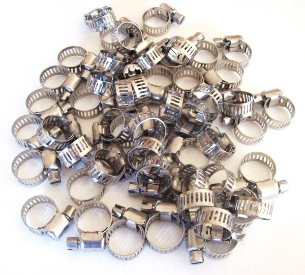 50 GOLIATH INDUSTRIAL STAINLESS STEEL HOSE CLAMPS 1 4quot; 1 2quot; SSHC12 8MM 12MM