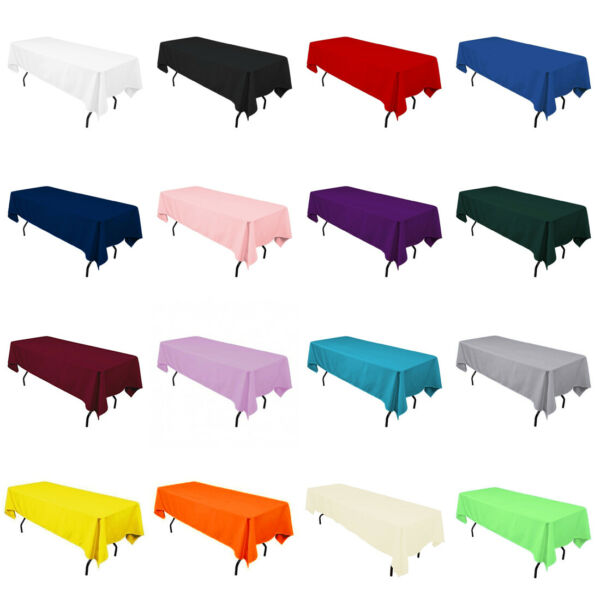 60quot; x 102quot; Rectangular Seamless Tablecloth For Wedding Restaurant Banquet Party