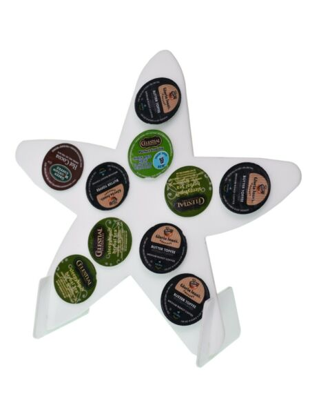 Lot of 6 Starfish White Counter Top 10 K Cup Dispenser Coffee Keurig Pod Holder