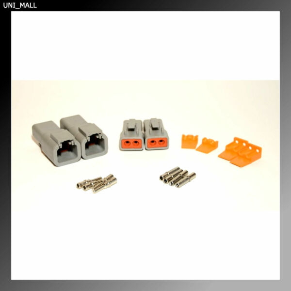 2 x Deutsch DTP 2-Pin Genuine Connector Kit,12-14AWG Solid Contacts, USA