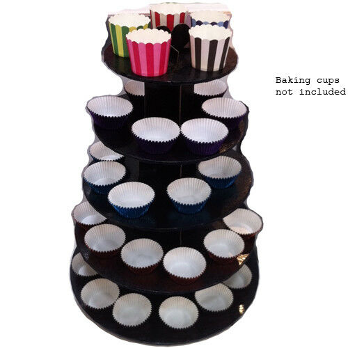 Black 5 Tier Cupcake Stand Tower