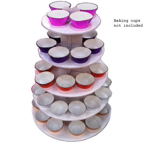 White 5 Tier Cupcake Stand Tower
