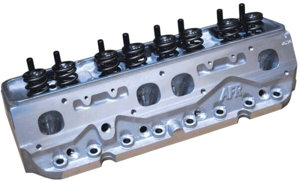 AFR SBC 235cc Competition CNC Spread Port Cylinder Heads Ti Retainers 1136-TI