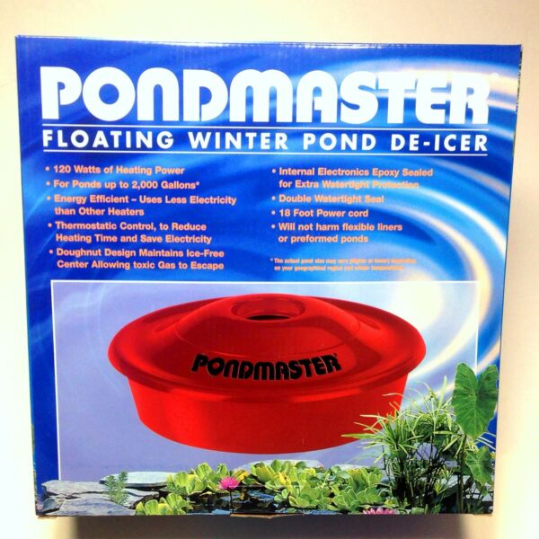 Pondmaster 120 Watt Floating Pond Deicer 02175 -water garden-koi-heater-winter