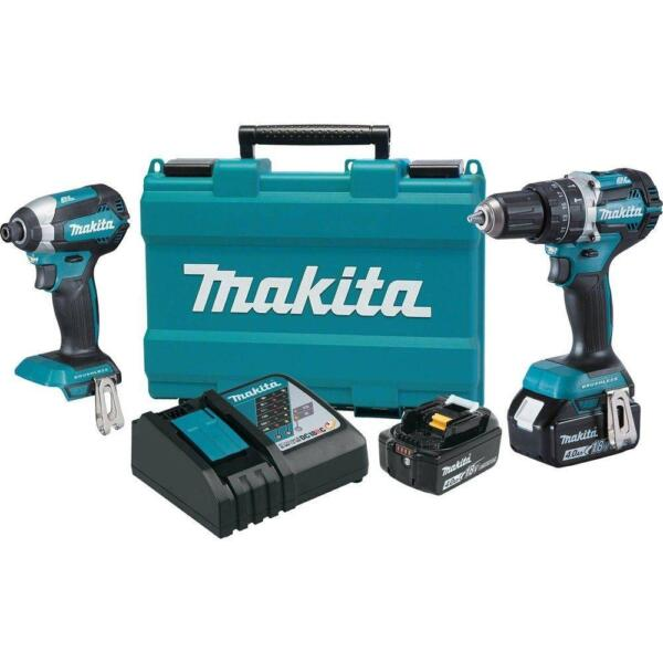 Makita18V LXT® Lithium‑Ion Brushless Cordless 2‑Pc. Combo Kit (4.0Ah) xt269m