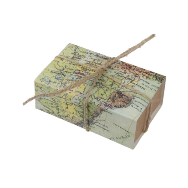 50Pcs Craft Paper World Map Drawers Wedding Favors Candy Gift Boxes Gift Box