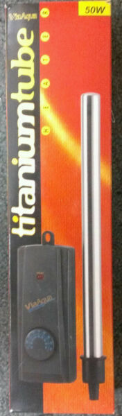 VIAAQUA TITANIUM TUBE AQUARIUM HEATER 50 WATT SUBMERSIBLE $41.50