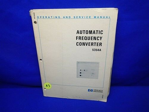 HP 5354A AUTOMATIC FREQUENCY CONVERTER OPERATING & SERVICE MANUAL