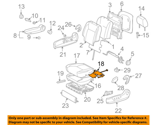 TOYOTA OEM 2004 Sienna Seat Heater-Element 87510AE041