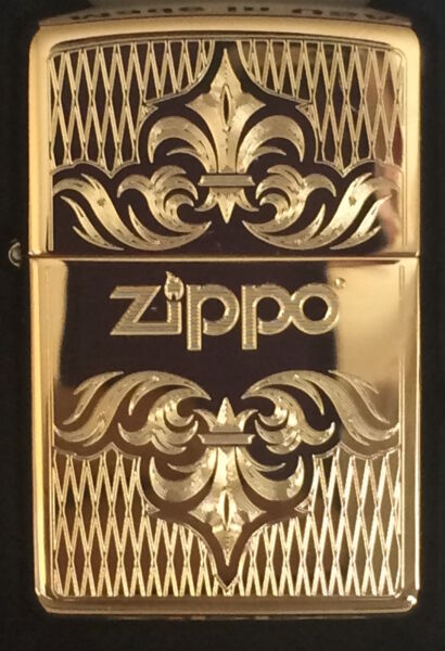 Zippo Windproof Brass Lighter With Regal Design amp; Zippo Logo 51155 New In Box