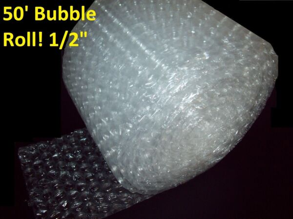 50 Foot LARGE Bubble Wrap® Roll 12quot; Wide 1 2quot; Bubbles Perforated Every Foot
