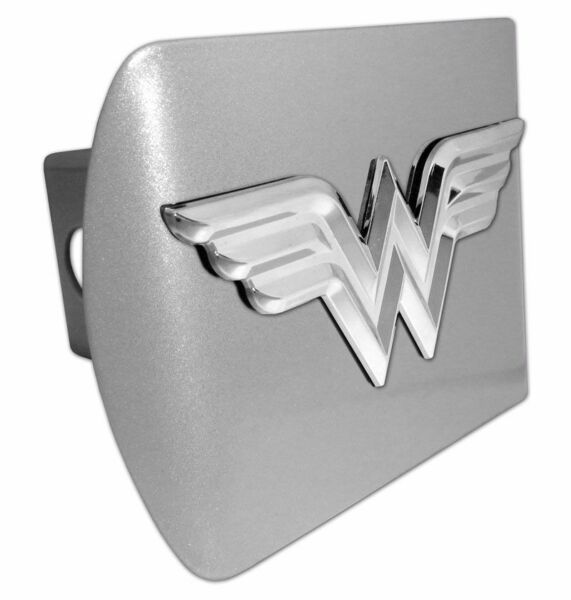 Wonder Woman ALL METAL Brushed Chrome Hitch Cover