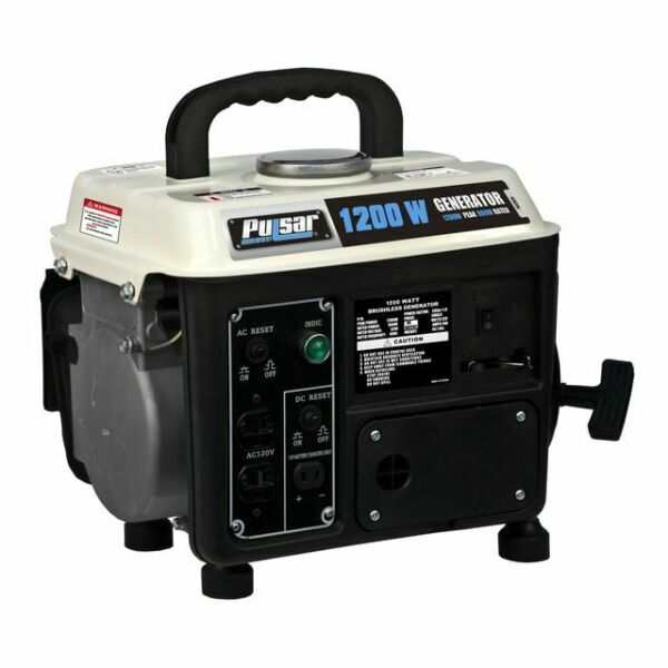 Pulsar 1200W Portable Two Cycle Gasoline 72cc Engine Generator PG1202S