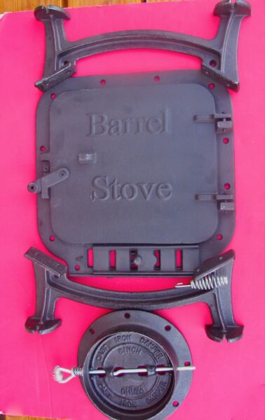 Barrel stove kit build your own wood stove wGasket Kit