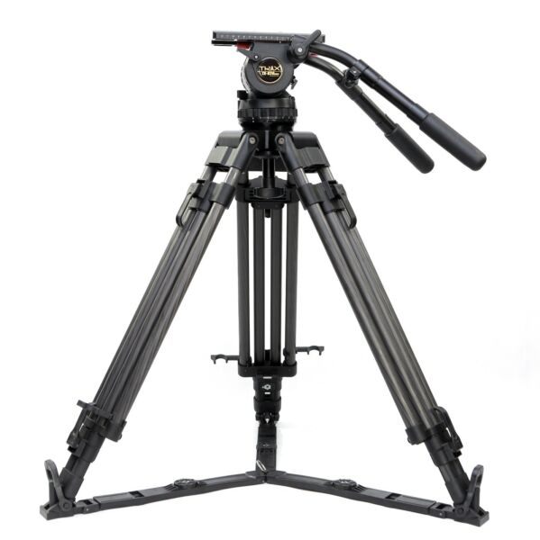 TERIS V20T Professional Carbon fiber Video tripod 30KG with Fluid head for film