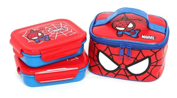 MARVEL Spiderman Two Food Container Lunch box Stainless food container SPIDERMAN