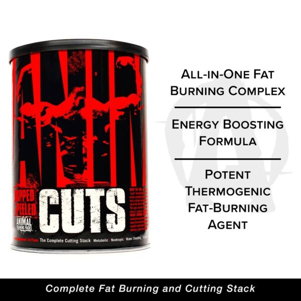 Universal Nutrition Animal Cuts 42 Packs Fat Burning Stack Get Ripped Burn Fat