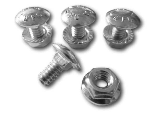 4 Pack Carriage Bolts Nuts for 731-1033 Shave Plate Scraper Bar