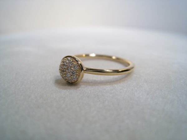 NEW!! Authentic Pandora Ring Dazzling in 14K Gold CZ 150187CZ-54